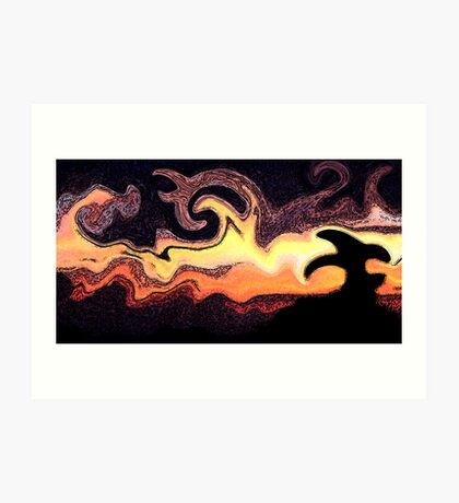 Sunset In The Desert Art Print
