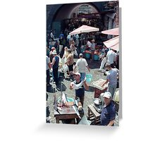 Catania Fish Market Greeting Card