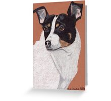 Rat Terrier Vignette Greeting Card