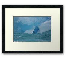 At the waterline -- iceberg detail Framed Print