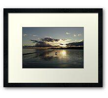 December Sunset Bridlington Framed Print