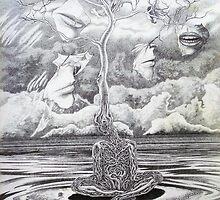 17 distant voices 14'' x 11''. graphite on paper. adam sturch by adam sturch