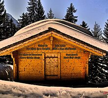 Alpine Cabin by itchingink