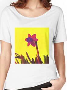 Daffodil Pink with Orange Women's Relaxed Fit T-Shirt