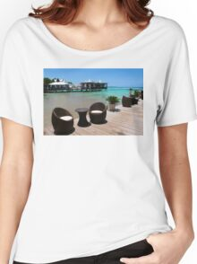 Infinity Luxury Swimming Pool in the Cayman Islands Women's Relaxed Fit T-Shirt