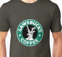Sawsbucks Coffie Unisex T-Shirt