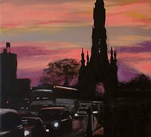 Painting of the Scott Monument - Edinburgh by Lee Fone