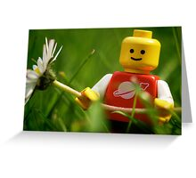 Lego Man Greeting Card