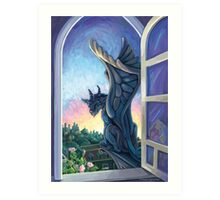 Gargoyle Guardian Art Print