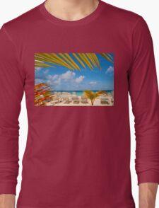 The Bacardi Island in Samana Bay, Cayo Levantado  Long Sleeve T-Shirt
