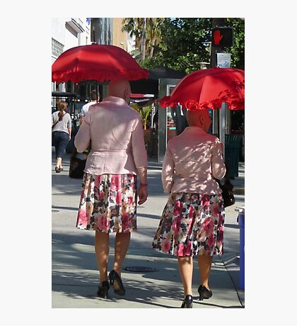 Pumps and Red Parasols ... Photographic Print