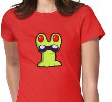 Cute Little Green Monster Womens Fitted T-Shirt