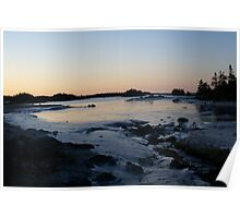 Sunrise in a sheltered cove Poster