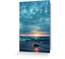 Cardiff by the Sea - Sunset Greeting Card