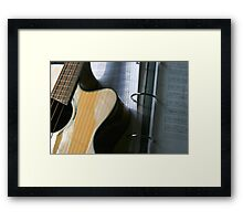 Bass Guitar With Tabs Framed Print