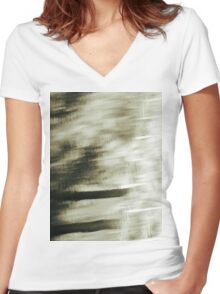 Fuzzy Reflection Women's Fitted V-Neck T-Shirt