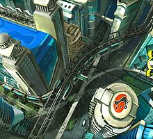 Ariel View - Utopian Concept by David Sourwine