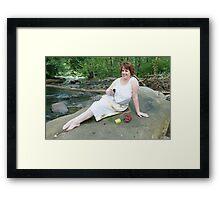 Goddess feasting  Framed Print