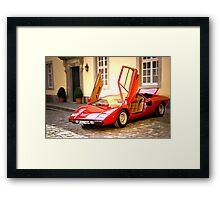 Lamborghini Countach LP400 Framed Print
