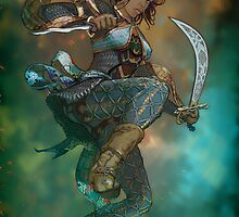 Fantasy Sword Saint by David Sourwine