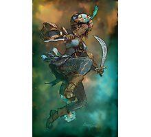 Fantasy Sword Saint Photographic Print