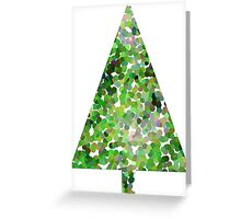 Green Spot Christmas Tree  Greeting Card