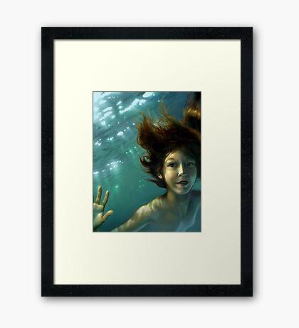 Natural Mermaid Framed Print