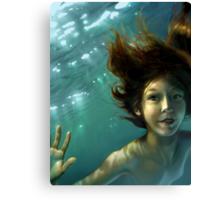 Natural Mermaid Canvas Print
