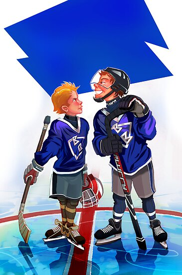 Hockey Face-off by David Sourwine