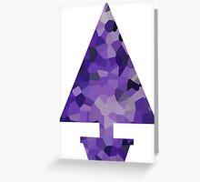 Potted Purple Crystal Christmas Tree  Greeting Card
