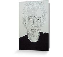 14 minutes, 47 seconds. 9''x12''. pen on paper. adam sturch Greeting Card