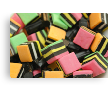 Licorice Candy Canvas Print