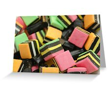 Licorice Candy Greeting Card