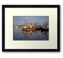 The calm of evening Framed Print