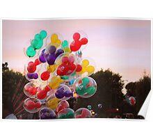 Disneyland Balloons Poster
