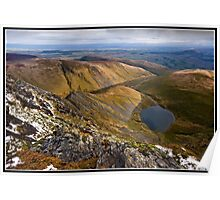 Golden light over sharp edge  Poster