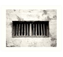Old Prison Cell Window  Art Print