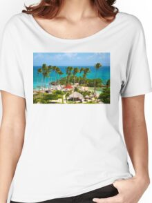 The Bacardi Island in Samana Bay, Cayo Levantado  Women's Relaxed Fit T-Shirt