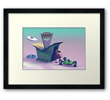 Retro Toy Robo Wash Framed Print