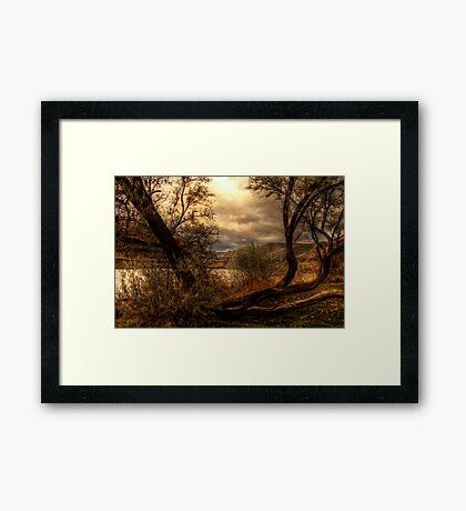 Sneak a Peek at the Snake River  Framed Print