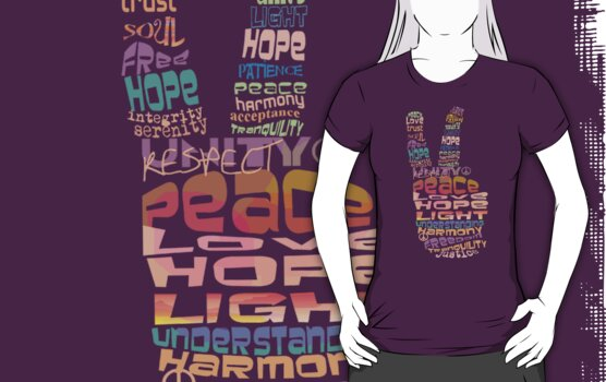 Peace tshirts by Karin  Taylor