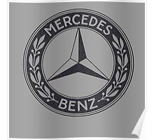 mercedes distressed Poster