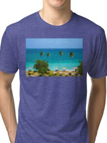 Cayo Levantado - The Bacardi Island in Samana Bay Tri-blend T-Shirt