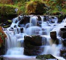 Talybont Waterfalls by Clive  Rees
