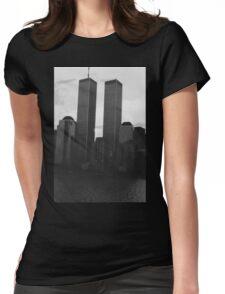 World Trade Center Sunrise  Womens Fitted T-Shirt