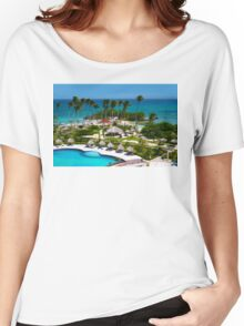The Bacardi Island in Samana Bay, Cayo Levantado  Women's Relaxed Fit T-Shirt