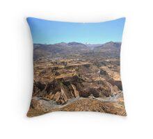 Colca Canyon Throw Pillow