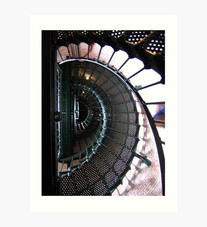 swirl stairway 2 Art Print