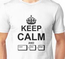 Keep Calm and Ctrl + Alt + Del Unisex T-Shirt