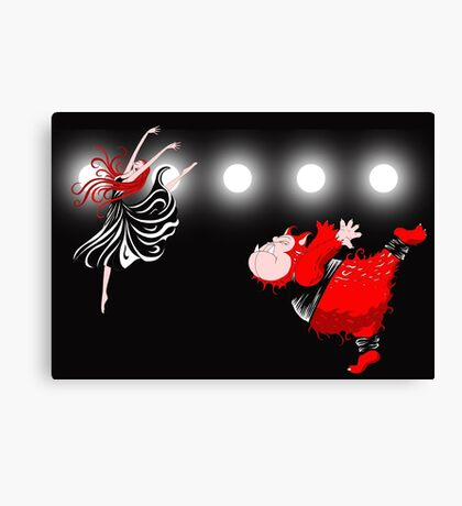Beauty and the Beast, off Broadway Canvas Print